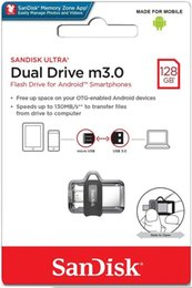 128 Usb Drives Australia - Sandisk 128GB Ultra Dual Drive m3.0 for Android Devices and Computers OTG - microUSB, USB 3.0 - SDDD3-128G