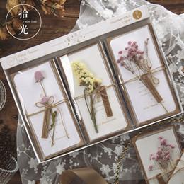 $enCountryForm.capitalKeyWord NZ - 1 Set Real Dried Flowers Greeting Card DIY Retro Paper Hand -Dried Flowers Greeting Cards Creative Cute Envelopes