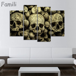Digital Figures Australia - 5panel large HD printed painting digital skull canvas painting art modern home decor wall art picture for living room