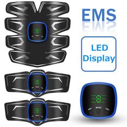 $enCountryForm.capitalKeyWord Australia - wireless fitness abs trainer stimulator sensor 6 Modes 9 Levels Muscle Toner Rechargeable, Muscle Toner Toning Belt for Men Women with Led