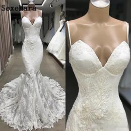 $enCountryForm.capitalKeyWord Australia - e Mermaid Wedding Dresses 2019 Sexy Spaghetti Straps Appliques 3D Flora Long Bride Bohemian Wedding Gowns