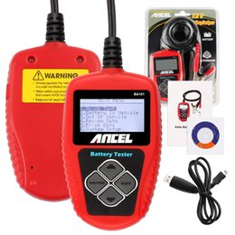 Tester 12v Digital Australia - 10PCS 12V Car Battery Tester Ancel BA101 Digital Display with Japanese Korean Language Battery Capacity Tester 2000CCA 220AH