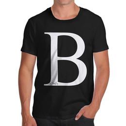 Letra T do monograma do alfabeto dos homens da inve Camiseta venda por atacado