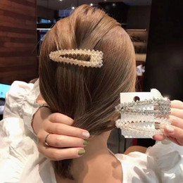 Pinching hair online shopping - INS cm Sweet Girls Hair Accessories Waterdrop Crystal BB Hair Clips for Women Alloy Hairpin pinches para el pelo ninas