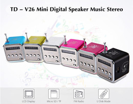 $enCountryForm.capitalKeyWord Australia - Portable TD-V26 Digital FM Radio Speaker Mini FM Radio Receiver With LCD Stereo Loudspeaker Support Micro TF Card