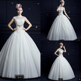$enCountryForm.capitalKeyWord Australia - Robe de mariage 2019 ball gown wedding dress white lace appliques wedding dresses cap sleeve hollow back sexy corset bridal gown hot sale