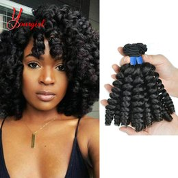Natural Machines Australia - Brazilian 100% Human Hair Fashion Curly Funmi Hair Weave Bundles 3 Pieces 8-28 Inches Unprocessed Natural Color Machine Double Weft