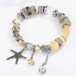 $enCountryForm.capitalKeyWord NZ - Free DHL 2020 Summer Beach Charm Beaded Bracelets with Seashell Starfish Pendant Fashion Bohemian Bracelet Women Girls Jewelry Gift M334F