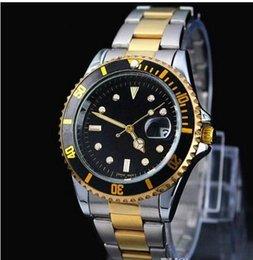 2017 Famoso design de Moda Homens Grande Relógio de Ouro de aço inoxidável de Prata de Alta Qualidade Masculino relógios de Quartzo Homem relógio de Pulso de negócios classil relógio venda por atacado