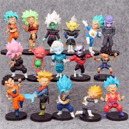 1 set = 16 pezzi 7,5 cm Dragon Ball Z Action Figure funko I personaggi storici Dragon Ball Z Action figure per giocattoli per bambini in Offerta