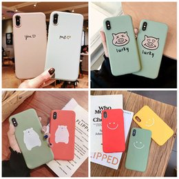 Wholesaler For Back Iphone Color Australia - Designer Cell Phone Cases TPU Solid Color Back Cover Pattern Letter For iphone X 6S 7plus 8plus XR XSMAX XS