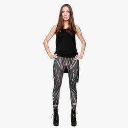 China Woman Leggings Black Bullet 3D Graphic Full Print Full Length Jeggings Lady Spring Summer Autumn Pants Girl Skinny Yoga Wear Pants (Y29700) cheap lady bullet suppliers