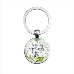 $enCountryForm.capitalKeyWord UK - Silver Alloy Glass Dome Pendant Keychain Spanish Bible Lord's Prayer Pattern Time Gemstone Keychain Wholesale Gift for Family