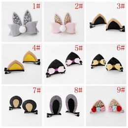 $enCountryForm.capitalKeyWord NZ - 23 Style Fashion Baby Cat Ears Hairpin Clips Girls Large Barrette Kids Hair Boutique Children Hair Accessories