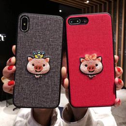 $enCountryForm.capitalKeyWord Australia - Wholesale Embroidered lovely pig mobile phone case for iphone xsmax creative plum S8 S10 NOTE9 personality all-inclusive protective cover