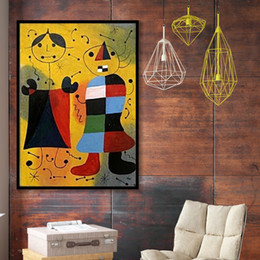 large abstract art canvas prints NZ - Joan Miro Abstract Wall Art Painting-5 Famous Canvas Painting Living Room Home Decoration Large Pictures 191002