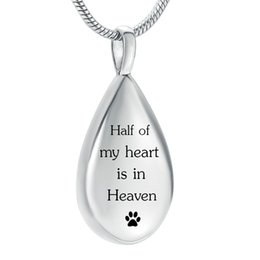 EastEr gifts for dogs online shopping - LHP213 LHP213 Half of My Heart is in Heaven Urn Necklace for Women Cremation Jewelry Memorial Necklace for Pet Dog Cat Ashes