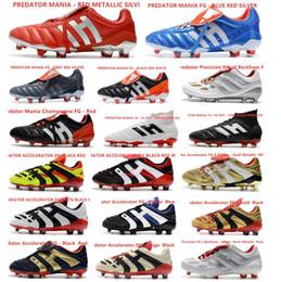 Venta al por mayor de Hot Classics Predator Acelerador de Electricidad de precisión MANIA FG Beckham DB Zidane ZZ 1998 hombres botas botas de fútbol tacos de fútbol Tamaño 39-45