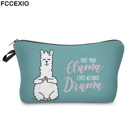 cute waterproof bag Australia - FCCEXIO Cute Yoga Llama Cosmetic Bag Waterproof Makeup Bags Lovely Cosmetics Pouchs Women for Travel Toiletry Dropshipping