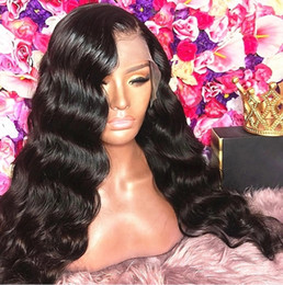 celebrity lace front wigs indian UK - Celebrity Wig Lace Front Wigs Loose Wave Natural Color 10A Grade Virgin Indian Human Hair Full Lace Wigs for Black Wig Free Shipping