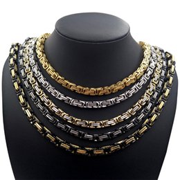 6mm Chains NZ - Hip Hop Fashion Necklace Gold Chain Neckalce Titanium Steel Mens Necklace Jewelry 4mm 5mm 6mm 8mm