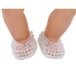 $enCountryForm.capitalKeyWord Canada - 18 inchs American Girl doll shoes for child party gift toys--Doll Clothes Accessories manual bead white doll shoes for American Girl