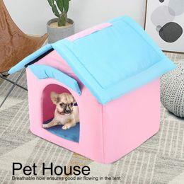 $enCountryForm.capitalKeyWord Australia - Portable Foldable Breathable Pet Tent House Sleeping Bed for Small Medium Size Dog Cat Winter Warm Cushion Basket Animal Bed