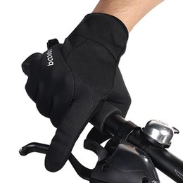 Gloves Windproof Bicycle Australia - Bike Gloves Winter Cycling Gloves Windproof Warm Outdoor Sports Hiking MTB Bicycle For Men Women Full Finger
