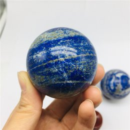blue crystal sphere NZ - drop shipping natural lapis lazuli crystal gemstone sphere reiki healing Orb crystal ball Home Decor meditation Afghanistan