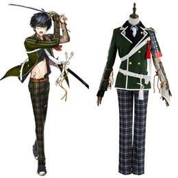 Uniform costUme cUstom online shopping - Token Touken Ranbu Cosplay Kotegiri Gou COSplay Costume Outfit Uniform Military Suit Green Full Sets Halloween Party Costume
