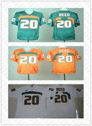 Discount ed reed jersey Cheap custom Ed Reed 20 College Football Jersey Miami Hurricanes Stitched high quality