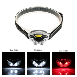 Hunt Camp Wholesale Gear Australia - 6 LED Lights 1200 Lumens 3 Modes Outdoor Headlight Headlamp Lighting for Fishing Camping Hiking Cycling Hunting Outdoor Gear