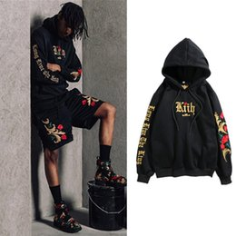 woman loose wool hat Australia - 2019 Street Hip-hop Men And Women Embroidery Black Gold Sweater White Gold: War In Paradise Rose Even Sweater Hoodie Hat Loose Coat