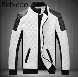 Wholesale men lether jackets resale online - Man Lether Jackets Man made Leather Jaquetas Masculinas Inverno Couro Jacket Men Jaquetas De Couro Men s Winter Leather Jacket