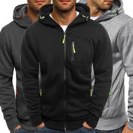 Wholesale boys zipped hoodies online – oversize Popular Fashion Winter Fall Long Sleeve Thick Cotton Boy Cool Warm Hot Mens Zip Up Hoodie Hoody Sweatshirt Casual Hooded Top
