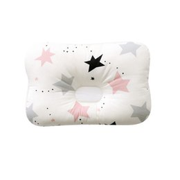 China Cotton Soft Baby Infant Newborn Sleep Positioner Support Pillow Concave Printed Shapping Cushion Prevent Flat Head cheap baby cushion support suppliers
