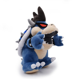 Chinese  30cm Super Mario Bowser Plush Stuffed Toy Bowser Super Mario plush toys darkness Koopa Bowser dragon darkness plush doll lol manufacturers