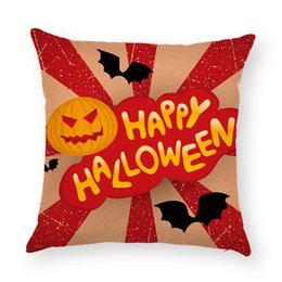 $enCountryForm.capitalKeyWord Australia - Happy Halloween Home Decor Cotton Linen Square Throw Pillow Case Waist Cushion Cover Sofa Car Pillow Cover 45*45 cm