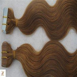 $enCountryForm.capitalKeyWord Australia - Darkest Brown Color Body Waev Hair Extensions 100% Human Hair Weave 10-30 Inchs Skin Weft Tape Hair Extensions 6a Unprocessed