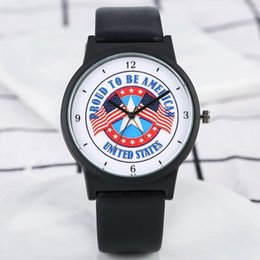 $enCountryForm.capitalKeyWord Australia - United States Flag Men's Watch Luxury Proud to Be American Quartz Five-pointed Star Analog Fashion Clock Male Relogio Masculino