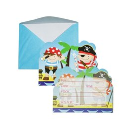 $enCountryForm.capitalKeyWord Australia - Little pirate theme party decoration party invitation friends blessing birthday theme supplies
