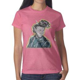 The Weeknd Drawing Vivid maglietta rosa, camicie, magliette, t-shirt vintage design camicia fanno una maglietta atletica banda