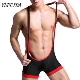 Wholesale lace fetish for sale - Group buy Men s Bodysuit Leotard Wrestling Mankini Fetish Jumpsuit Boxer Briefs Underwear Freestyle Leotard Underwear Wrestling Suit