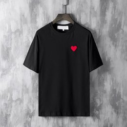 $enCountryForm.capitalKeyWord Australia - Hot sell summer Tshirt Luxury Men Designer Clothing Red heart Tshirts 19ss Letter embroidery Fashion PLAY Tees Casual cotton T shirt top