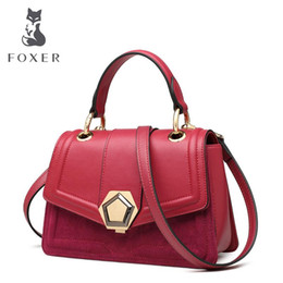 $enCountryForm.capitalKeyWord NZ - FOXER bag for women 2019 new women Cowhide fashion leather handbags luxury designer tote red leather Shoulder bags
