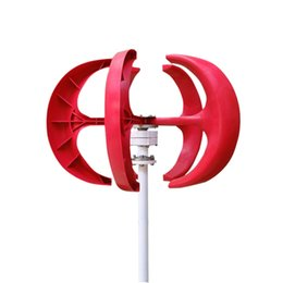 Turbine Controller Australia - Factory Price free fast shipping Max 500W vertical red color Wind Turbine Generator 5Blades with Wind Generator Controller