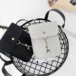 Ladies Lace Handbags Australia - Cheap High Quality Ladies Girls Solid Color Casual Coin Phone Shoulder Bags Women Female Mini Messenger Bag With Deer Toy Handbag FA$3