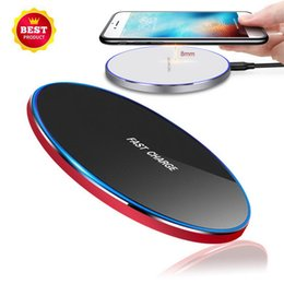 wholesale iphone cell phone docks Australia - Universal Q1 Wireless fast Charger 5V 2A 9V 1.67A Charging Pad Cell phone charge dock For iphone 8 xs max S8 S10 NOTE 8