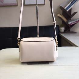 $enCountryForm.capitalKeyWord Australia - classic white color sweet style size large capacity round genuine soft leather suitable for lady shoulder business sports cross body bags