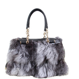 winter fur handbag NZ - Women's handbags 2018 winter new ladies handbags real fox fur chain bag shoulder slant diagonal large size ladies bag B5 D19011204